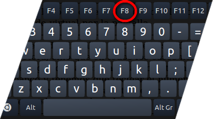 Pressione F8 para reiniciar o PC em modo de segurança