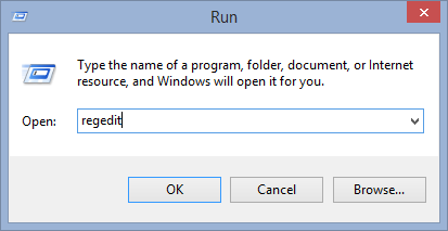 Type-regedit-to-registo aberto