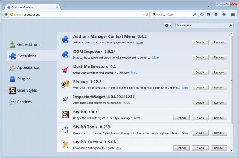 extensões O Mozilla